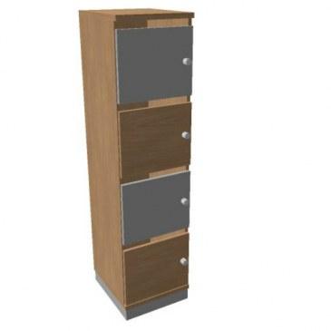 Oka  houten lockerkast 4 deurs  SBGAG17 1