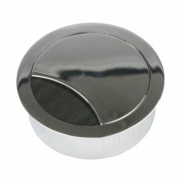 Kabeldoorvoer metaal Ø 60 mm chroom gepolijst  423009.067060023.090 0