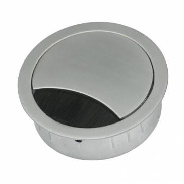 Kabeldoorvoer metaal Ø 60 mm chroom mat  423009.067060023.091 0