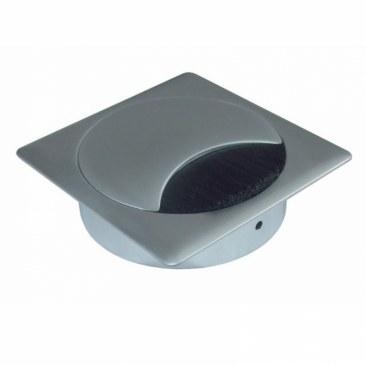 Kabeldoorvoer metaal vierkant chroom mat  423026.895895080.091 0