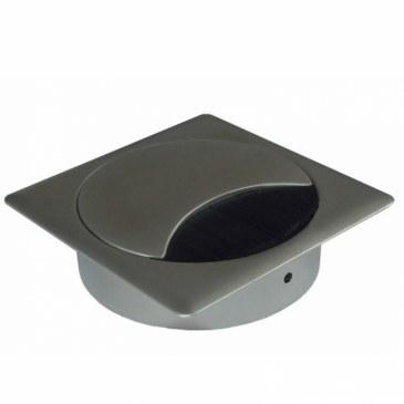 Kabeldoorvoer metaal vierkant RVS finish  423026.895895080.096 0