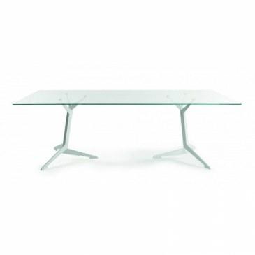 Viasit TRI vergadertafel 200 x 100 cm glazen blad  215.2010G 0