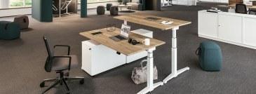 Assmann Canvaro zit-sta bureau elektrisch verstelbaar 160 x 80 cm  STSA1608 2