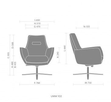 Bejot UMM UM 102 loungestoel  UM 102 1