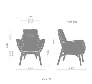 Bejot UMM UM W 702 loungestoel  UM W 702 3
