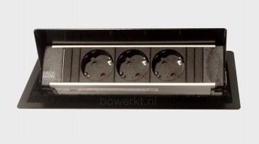 Bachmann CONI inbouwmodule 3x stroom   BM-CONI-KORT-01 0
