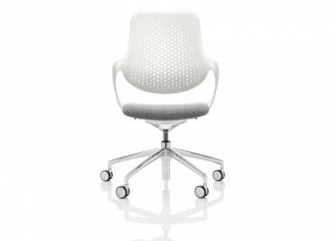Boss Coza bureaustoel witte rugleuning  COZ/1/P5 1