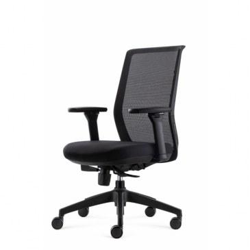 Bowerkt bureaustoel FYC 237 - ERGO4 - zwart  FYC 237 - ERGO 4-zwart 0