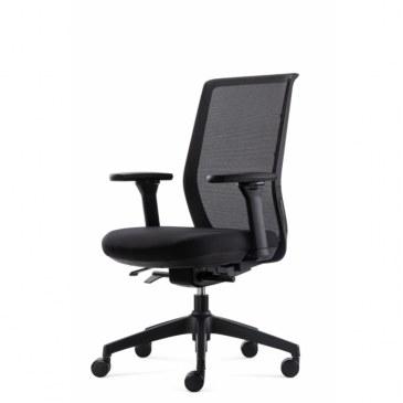 Bowerkt bureaustoel FYC 237 - Synchro 4 - zwart   FYC 237 Synchro-4-zwart 0