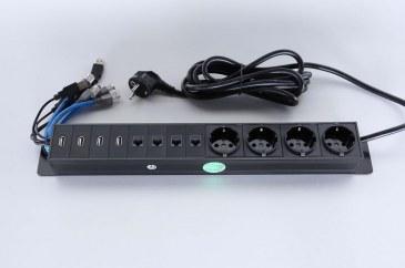 Götessons Powerinlay 4 x Stroom, 4 x Data en 4 x USB  721004 0