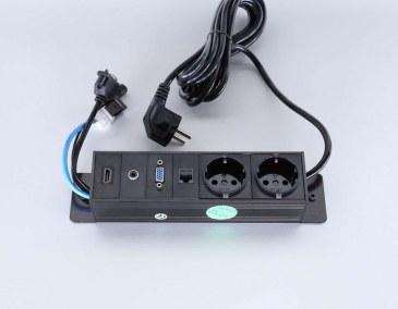 Götessons Powerinlay 2 x Stroom + 1 x data + 1 x VGA + 1 x Audio + 1 x HDMI  721003 0