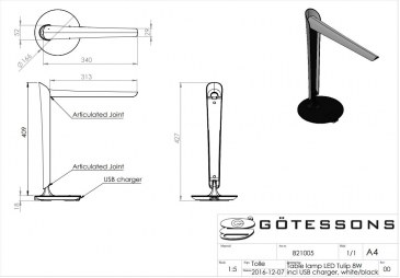 Gotessons LED tafellamp TULP  821005 4