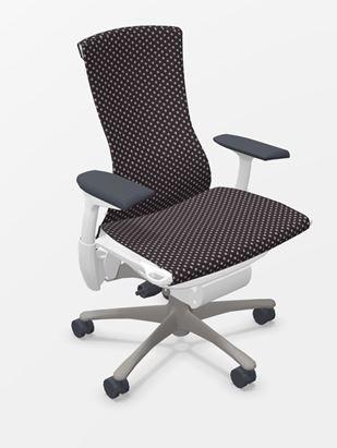 Herman Miller Embody white titanium bureaustoel  CN132 AWAA XT 91 BB 3512 0