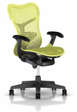 Herman Miller Mirra 2 lime bureaustoel MRF131  MRF131AWAP N2 G1 BB ZS BK 0
