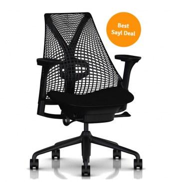 Herman Miller Sayl bureaustoel AA Black Best Sayl Deal actie 2021  BSTSYL2021 0