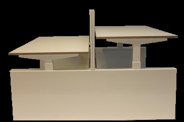 Bowerkt S3WLS duo werkplek elektrisch 180 x 80 cm  S3WLS 0