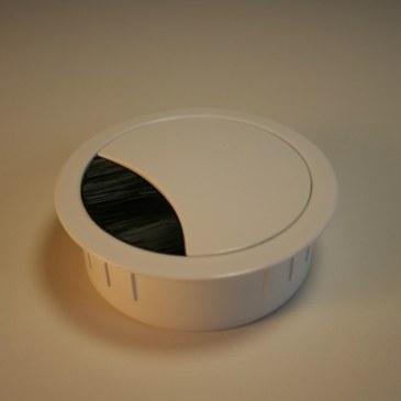Kabeldoorvoer metaal Ø 60 mm wit gelakt  423009.067060023.001 2