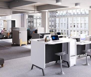 Mikomax Stand Up bureau Duo hoogte-verstelbaar H1250  STA-BS-203 5