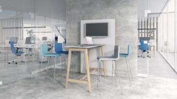Narbutas Nova Wood hoge vergadertafel 1600 x 700 x 1050 mm  CNM166 1