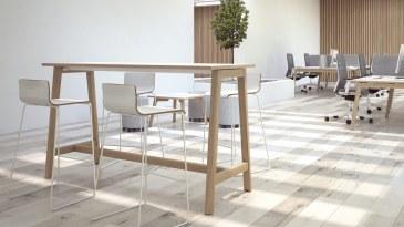 Narbutas Nova Wood hoge vergadertafel 1600 x 700 x 1050 mm  CNM166 2