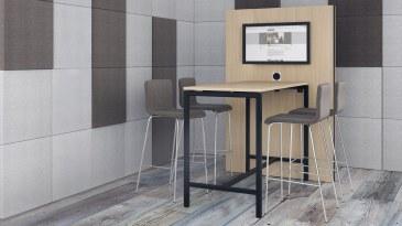 Narbutas Nova hoge vergadertafel 1600 x 700 x 1050 mm  CNM165 2