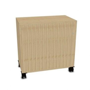 OKA houten kast op wielen 80,5x80x45cm  FAAAD15 0