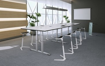 OKA DL11 vergadertafel elektrisch verstelbaar 400 x 120 cm  TH001D 0