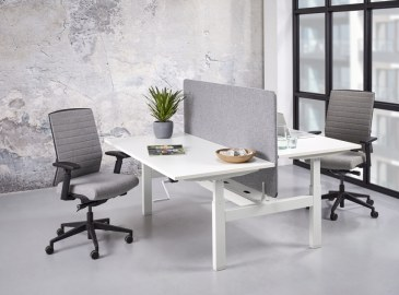 Orange Office duo werkplek H-poot met slingerverstelling 160 x 166 cm  OO NSFB2168 0