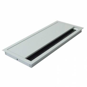 Kabeldoorvoer 100x240x13mm wit met softclose sluiting  423011.100240135.001 0