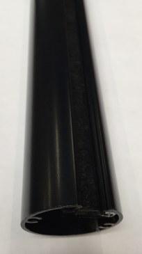 Aluminium buiszuil van vloer tot plafond mat zwart  470550.000000000.905 0
