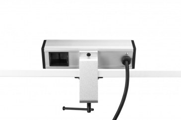Thovip Power Desk up 2 x stroom + 1 x leeg (alu/zwart)  4730017.02010000.000 1