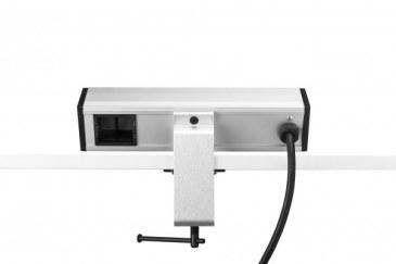 Thovip Power Desk up 2 x stroom + 2 USB charger + 1 x leeg (alu/zwart)   4730017.02020100.000 1