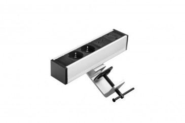 Thovip Power Desk up 2 x stroom + 2 USB charger + 1 x leeg (alu/zwart)   4730017.02020100.000 2
