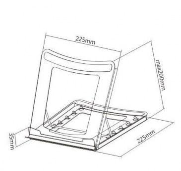 Thovip Laptophouder / verhoger metaal zwart  472706.000000000.000 4