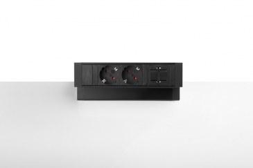 Thovip Power Desk Up 2.0 - 2x Stroom + 1 x lege module   4730014.02010000 0