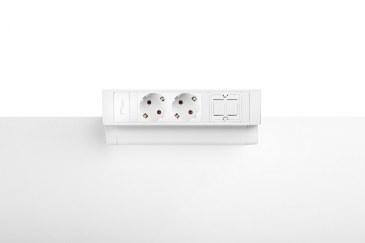 Thovip Power Desk Up 2.0 - 2x Stroom + 1 x lege module   4730014.02010000 2