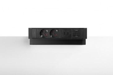 Thovip Power Desk Up 2.0 - 2x Stroom + 2x USB charger + 1 x lege module  4730014.02020100 0