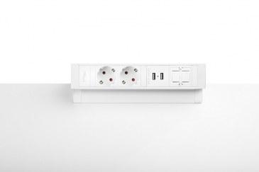 Thovip Power Desk Up 2.0 - 2x Stroom + 2x USB charger + 1 x lege module  4730014.02020100 2