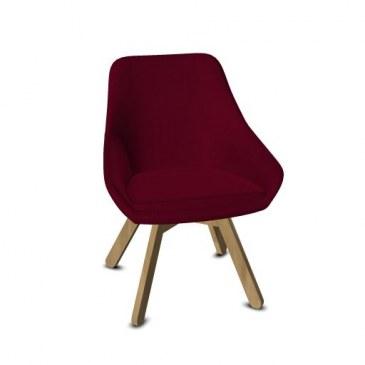Viasit Calyx loungestoel eiken onderstel  903.0000 0