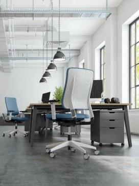 Viasit Drumback bureaustoel telegrijs  470.1002 1