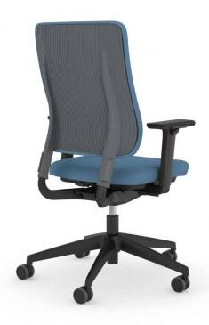 Viasit Drumback bureaustoel staalgrijs  450.1002 1