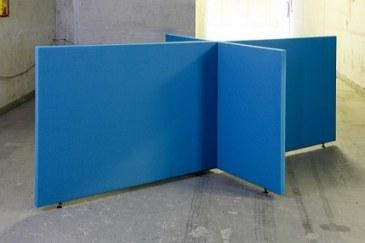 Akoestische scheidingswand B-MoVe X-opstelling 1600 mm  B-MoVe X-160080058 0